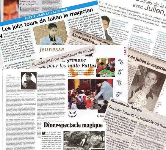 Magicien de la presse parisienne et des médias Julien MOREAU