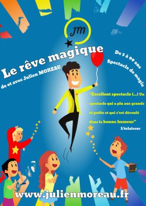 Affiche du spectacle de magie pour enfants